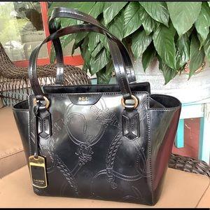 🤩Ralph Lauren paten leather handbag💕